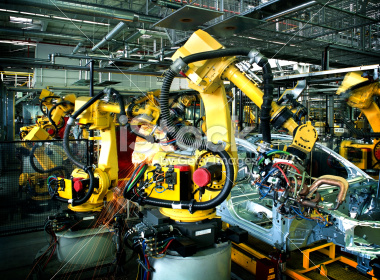 Robotic welding on an auto assembly line