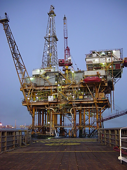 An offshore platform in the Gulf of Mexico