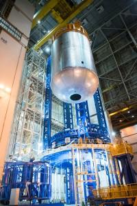 Liquid oxygen tank confidence weld complete on VAC
