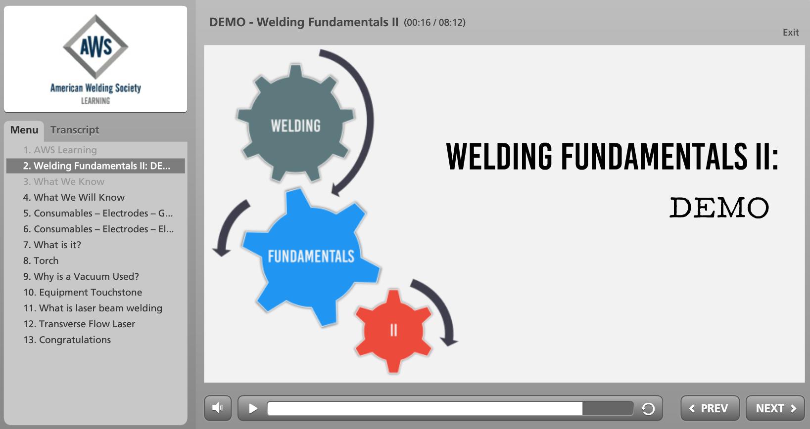Welding Fudamentals II Screenshot