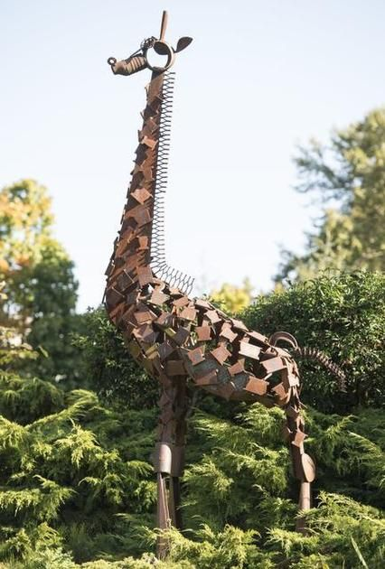 Delilah the giraffe was the winning creation at the first BTC welding rodeo in 2002. The 14-foot-tall sculpture graces the lawn of the Bellingham Public Library.