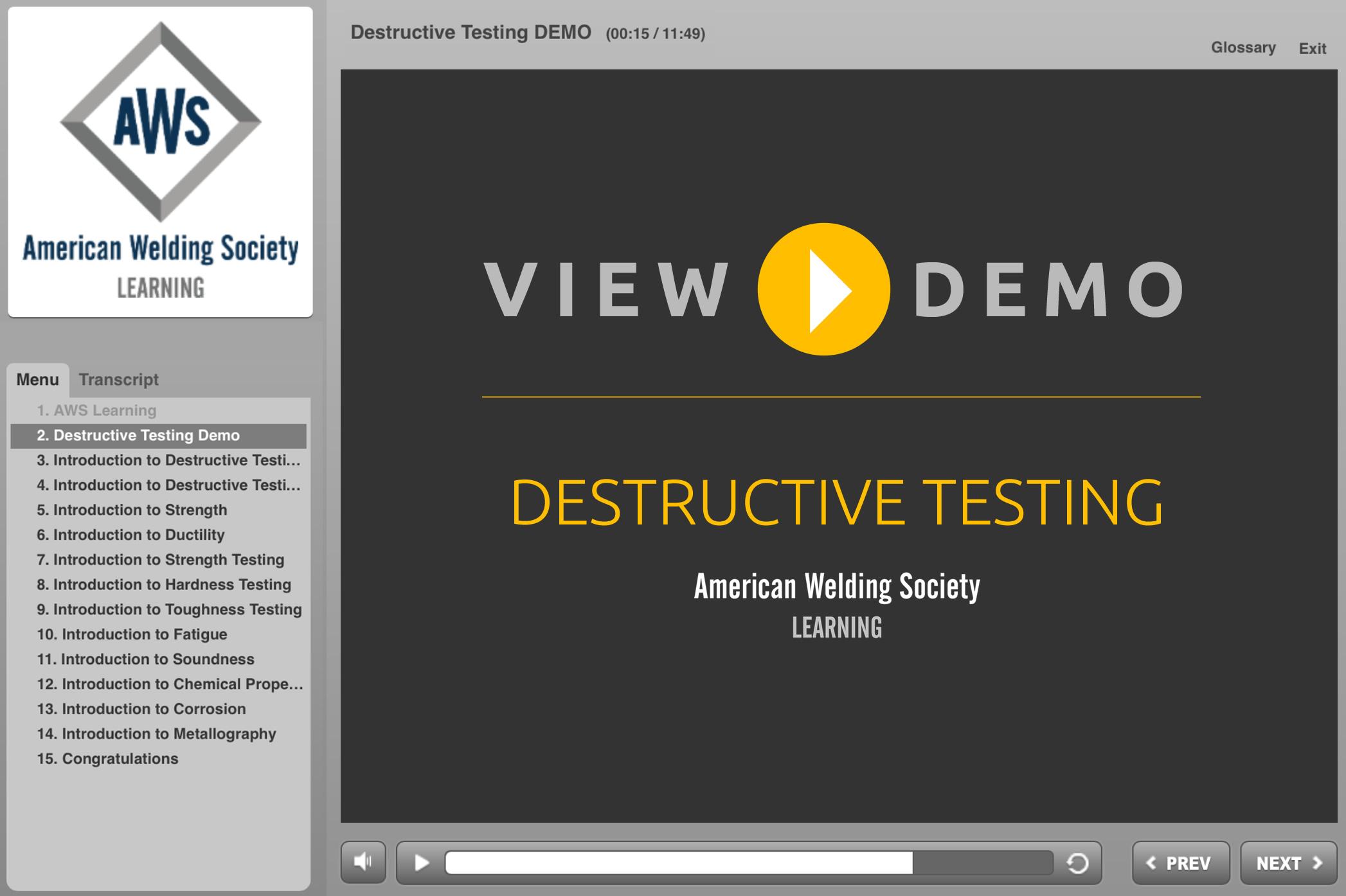 Destructive Testing | American Welding Society Education Online