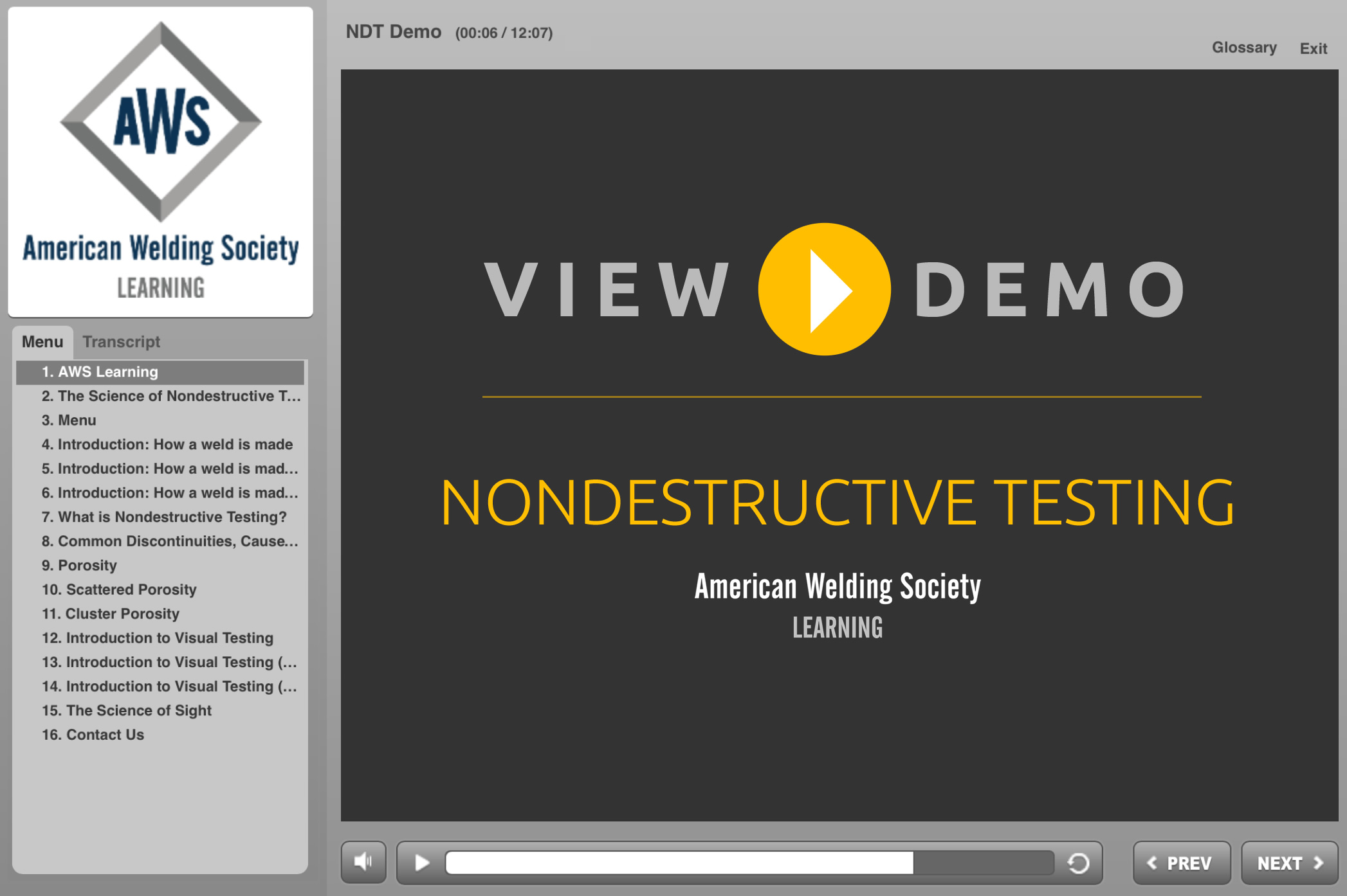 Science of Nondestructive Testing | American Welding Society