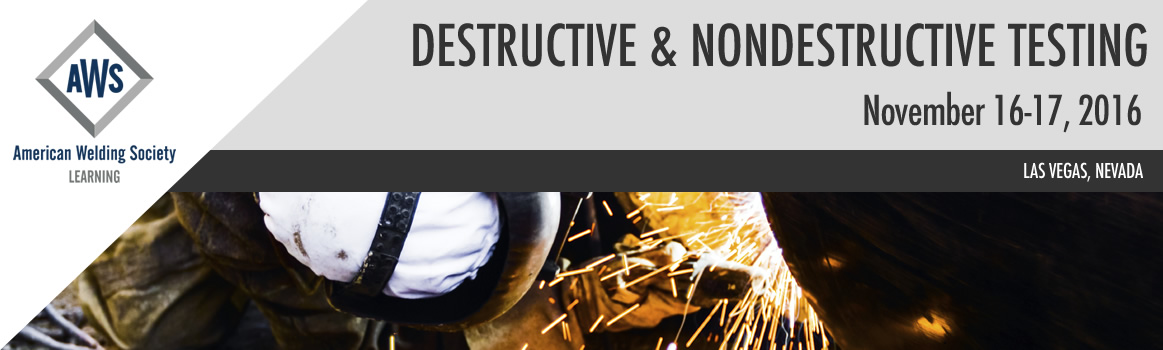 2016 Nondestructive and Destructive Conference