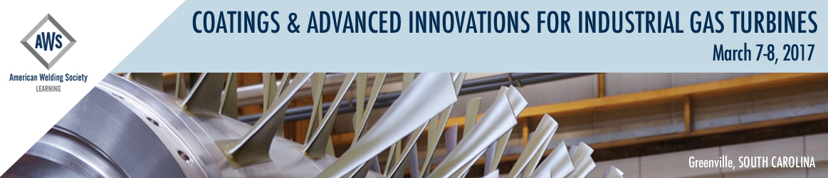 2017 Coatings & Advanced Innovations for Industrial Gas Turbines
