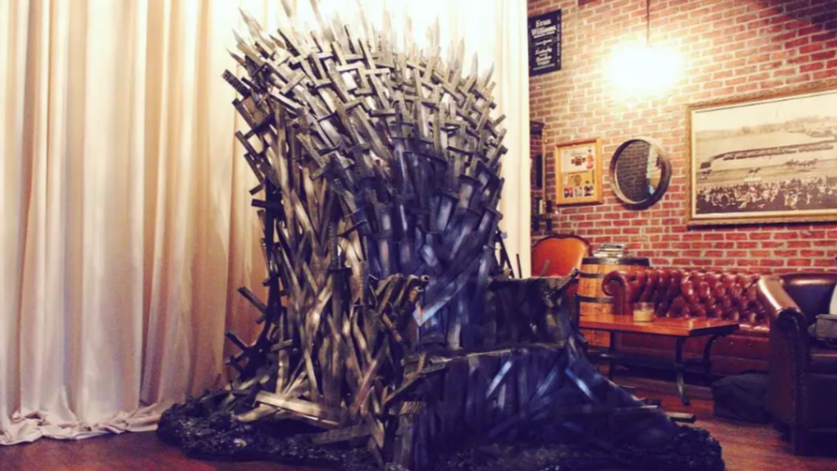 Homemade Iron Throne and Other Welded Art