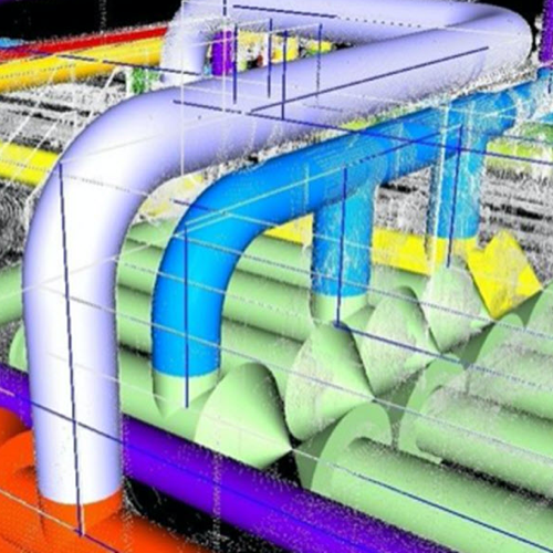 Laser Scan of Piping System